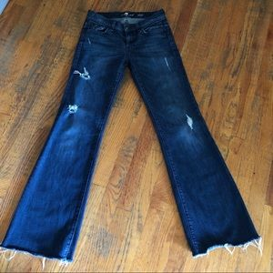 7Fam 7 For All Mankind Distressed Dojo Jeans SZ 27